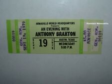 Anthony Braxton Unused 1979 Concert Ticket Austin Tx Wolf Eyes Armadillo Hq Rare