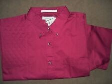 3XL RH Trap/Skeet Pad BURGANDY Short Sleeve Button Front Twill Shooting Shirt