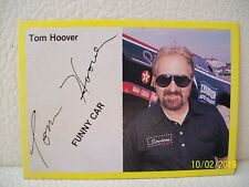 TOM HOOVER Funny Car PRINT SIGNED Racing Champions CARD Drag Race Racer