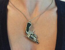 More details for  nancy spungen pistol gun neckchain exact copy sex pistols sid vicious r padlock