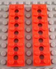 LEGO Lot of 2 Red 2x8 Technic Plates