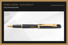 Pierre Cardin Black Beauty Roller Ball Pen GT Rollerball New Blue Ink Gift Nib