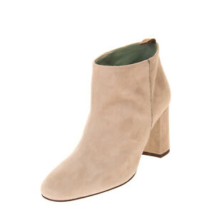 RRP €270 PAOLA D'ARCANO Suede Ankle Boots Size 36 UK 3 US 6 Heel Ball Chain Trim