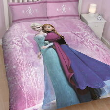 DISNEY FROZEN 'SPRING' DOUBLE DUVET COVER SET NEW GIRLS PINK BEDDING