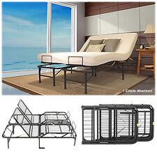 King Size Head Foot Adjustable Bed Frame Lift Furniture Metal Foundation Base