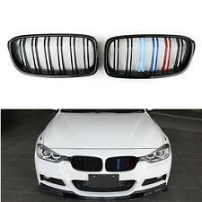 Front M Color Gloss ABS Kidney Grille Grills For 12-14 BMW 3 Series F30 F35 AU5