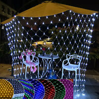 LED Fairy Net Mesh String Lights Christmas Wedding Party Festival Outdoor Decor