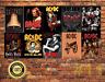 Job Lot 10 x METAL TIN SIGN WALL PLAQUE  AC/DC ROCK BAND COLLECTION #1