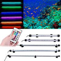 LED Waterproof Aquarium Fish Tank Lamp LED Submersible Bar lights White/Blue/RGB