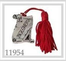 Ciondolo pergamena laurea INGEGNERIA deco bomboniera 40x30mm art 11954