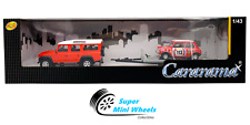 Cararama 1:43 Land Rover Defender 110 and Mini Cooper British Racing #113 (Red)