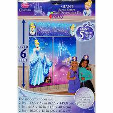 Disney Princess Party Decorations Boys Birthday Supplies Scene Setter Cinderella