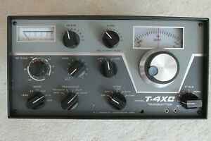 NO RESERVE WORKING VERY NICE CLASSIC DRAKE T-4XC HAM TRANSMITTER   1A 2B MS4