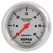 """Auto Meter 200752-33 3-3/8"""" In-Dash Tachometer Gauge, 0-6,000 RPM, Marine Silver"""