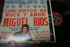 """MIGUEL RIOS - Conciertos De Rock Y Amor En Directo, LP 12"""" SPAIN 2015"""