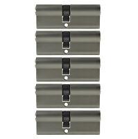 5x Profil Zylinder 85mm 40/45 Not + Gefahr 25 Schlüssel gleichschließend Schloss