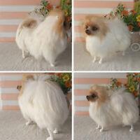 Realistic Pomeranian Dog Toy Plush Pomeranian Toy Doll Stuffed Animal Kids Gifts