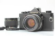 【EXC5+】 OLYMPUS OM-1n Black 35mm Film Camera + Zuiko Auto-S 50mm f/1.8 Japan