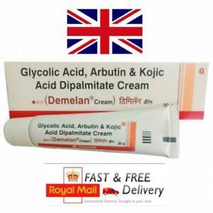 Kojic Acid Glycolic Acid & Arbutin Cream Treating Hyperpigmentation 20g Demelan