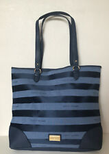 NEW! TOMMY HILFIGER SIGNATURE LOGO BLUE MG LARGE SHOPPER TOTE BAG PURSE $89 SALE