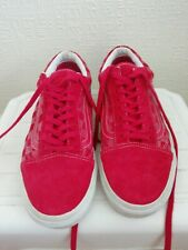 Mens Red Vans California Checked Suede Trainers Rare Uk Size 6 Us 7