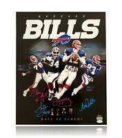 Buffalo Bills HOFers Signed 16x20 Photo #/25 JSA COA Jim Kelly Reed Smith Thomas