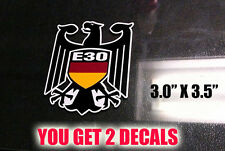 "e30 decals german eagle vinyl Germany Flag stickers 3.0 x 3.5"" YOU GET 2"