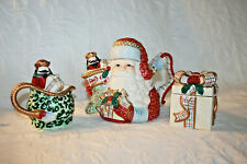 Avon St Nicholas Collection Santa Teapot, Sugar Bowl and Creamer