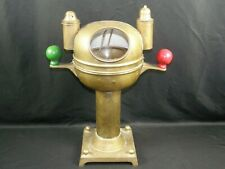Maritime Ship Yacht Binnacle Tabletop Compass Antique Brass Oil Lamp Nautical