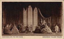"""Reginald Marsh """"GREENWICH VILLAGE FOLLIES"""" George Christie / Erte 1922 Postcard"""