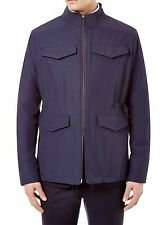 NEW MENS HARDY AMIES POCKET FIELD TECHNICAL COTTON OVER SUIT NAVY JACKET L $795