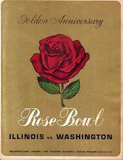 1964 Rose Bowl Football program,Washington vs. Illinois Dick Butkus w/Ticket,Fr