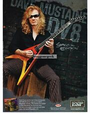 2004 ESP DV8-SE Electric Guitar DAVE MUSTAINE Vtg Print Ad