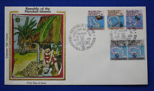 "Marshall Islands (35-38) 1984 Maps & Navigation Colorano ""Silk"" Fdc"