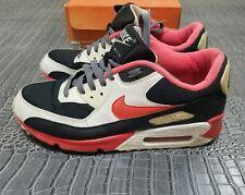 RARE Nike ID Air Max 90 Black Varsity Red 314266-991 Size 8.5