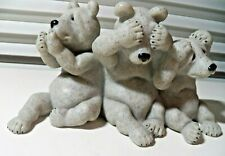 Real Cute Quarry Stone Critters 2001 Second Nature Design Uh Oh Bears #45416
