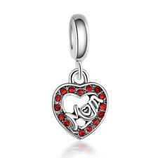 Fashion European Silver Charms Beads Pendant Fit 925 Sterling Bracelets Chain