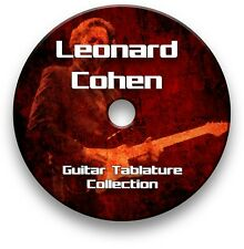 LEONARD COHEN FOLK POP ROCK GUITAR TABS TABLATURE SONG BOOK TUITION SOFTWARE CD