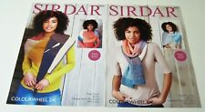Lot of 2 EASY KNIT Sirdar COLOURWHEEL Scarf Knitting Pattern Leaflets 4 Designs
