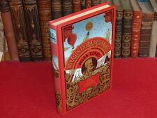 JULES VERNE -5 SEMAINES EN BALLON Illustré Cartonnage Reprint Ed. Delville Esso