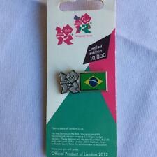 London 2012 Olympics Brazil flag badge