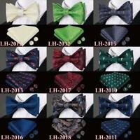 50 Colors Men's Self Bow Tie Classic Bowtie Blue Yellow Black Solid Floral Shark