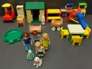 Lot 22pc Little Tikes Dollhouse Furniture Family Accessories+ Vtg