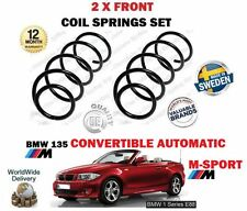 FOR BMW 135 M SPORT AUTOMATIC CONVERTIBLE 2008 > NEW 2 X FRONT COIL SPRING SET