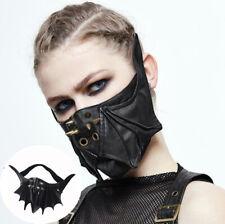 Bat mask Halloween Locomotive leather mask Gun black spiked mask cosplay