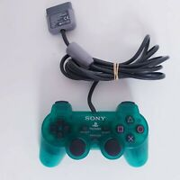 Genuine PlayStation 2 PS2 Teal Green Clear Controller Dual Shock 2