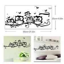 Kids Nursery Room Vinyl Art Cartoon Owl Butterfly Wall Sticker Decor Home Decal