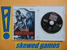 Tenchu Shadow Assassins - cib - Wii Nintendo