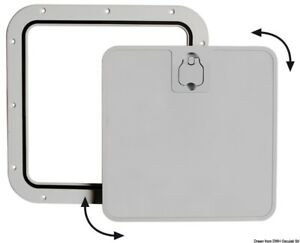 Boat Deck Grey Inspection Hatch with Removable Lid 375x375mm