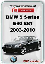 BMW 5 Series E60 E61 2003-2010 Factory Service Repair Manual